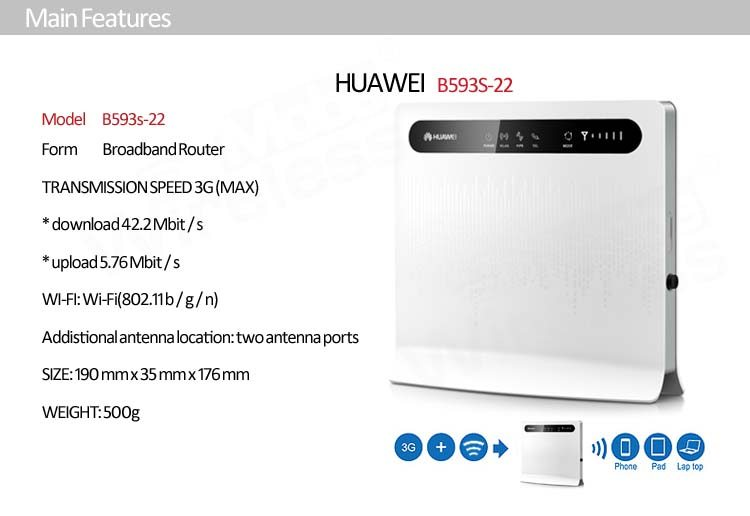 Huawei B593 Lte Cpe 4g Router