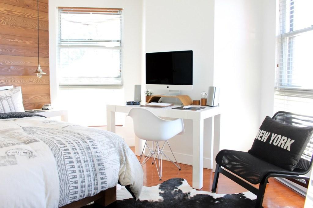 office space in bedroom