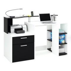 bureau informatique et multimedia espace travail et installation ordi et imprimante parfait gain de place pas