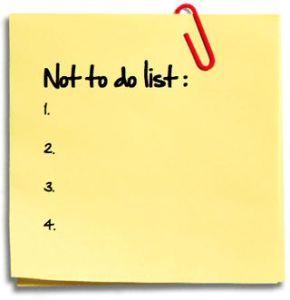 la lista delle cose da non fare è perfetta per la tua produttività