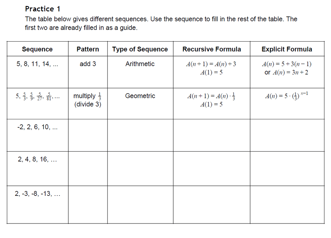 Arithmetic And Geometric Sequences Worksheets