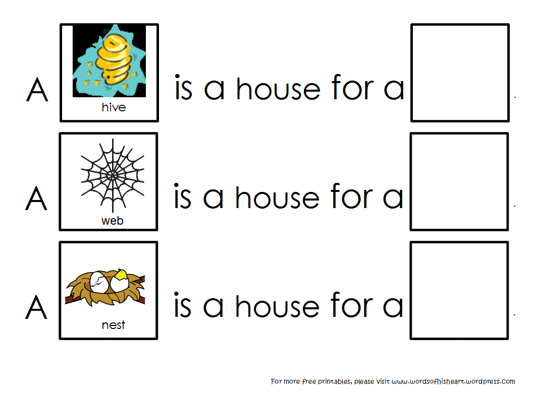 Animal Habitat Worksheets Free Printable
