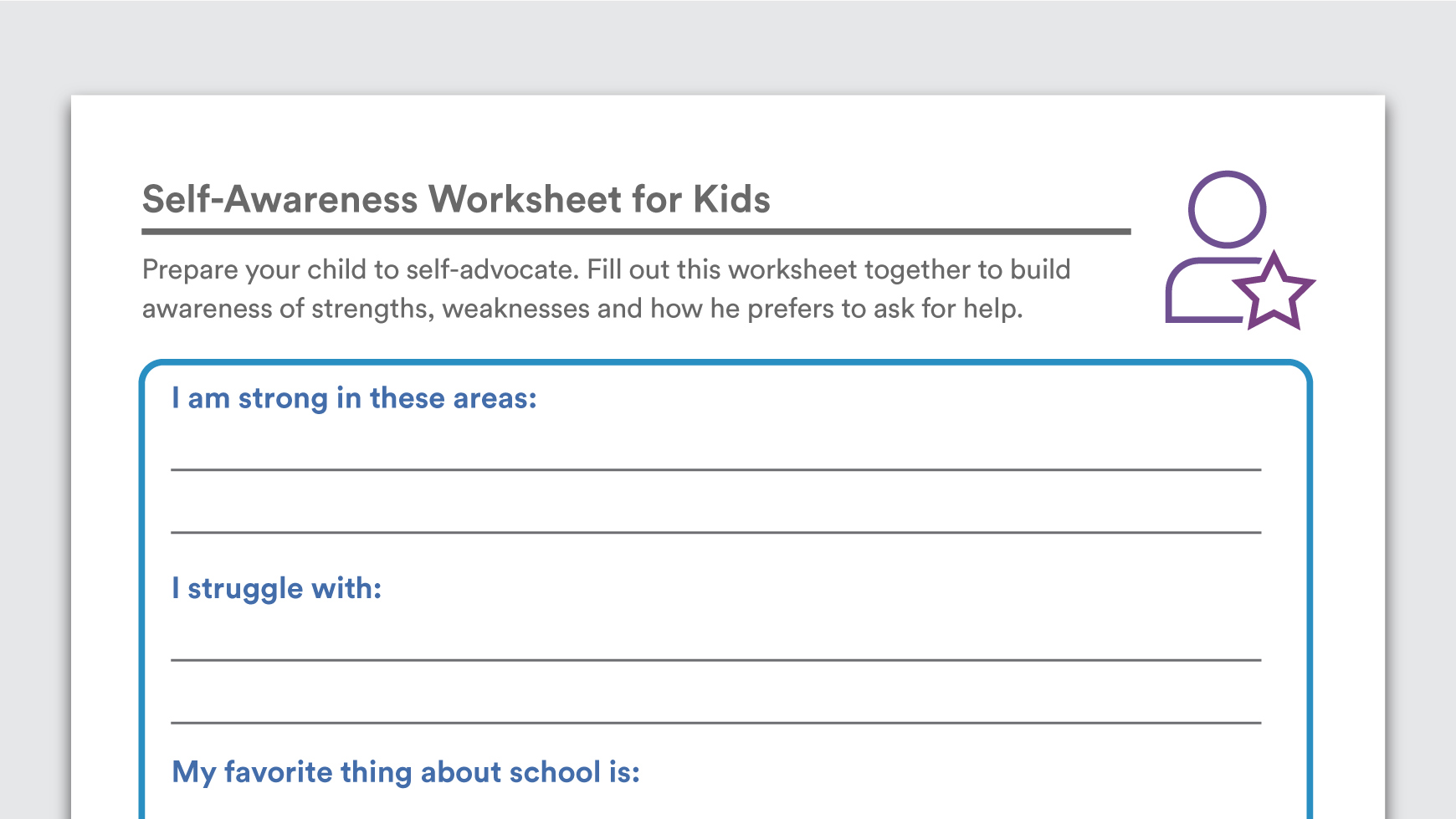 Personal Strengths Assessment Worksheets