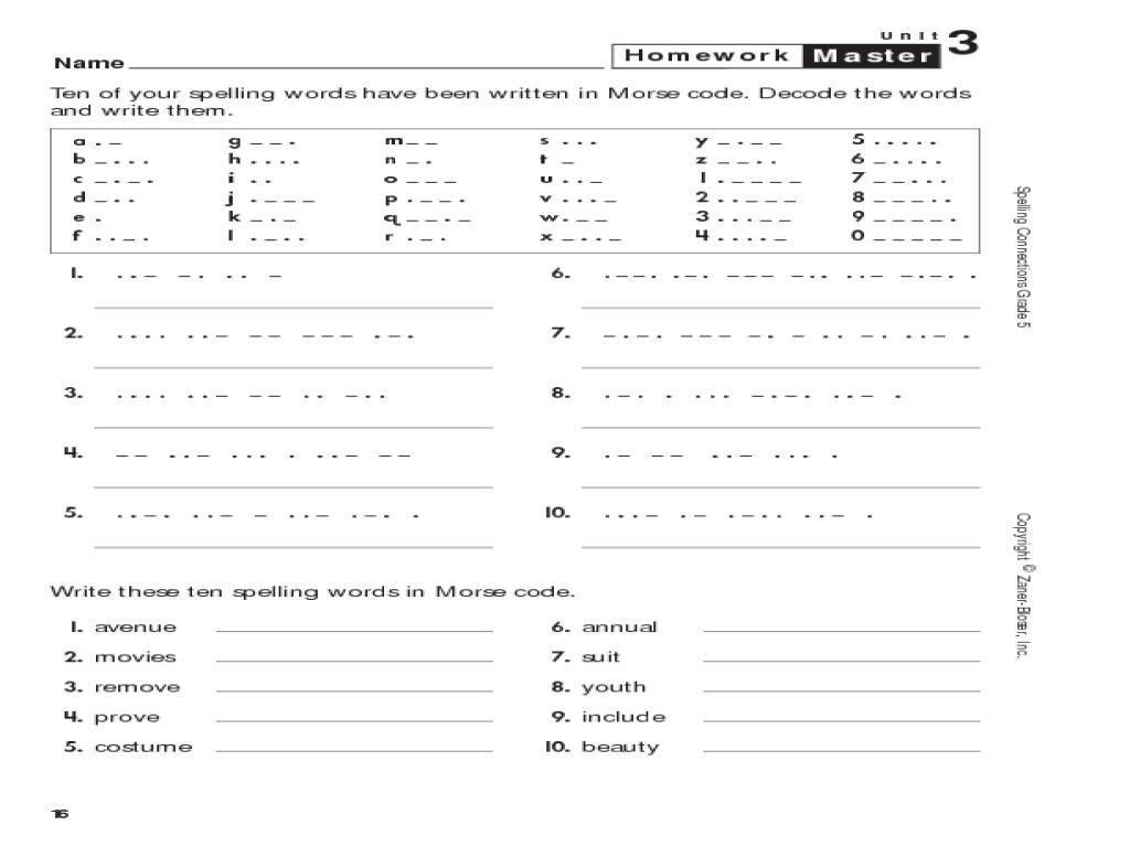 Decoding Worksheets 4th Grade
