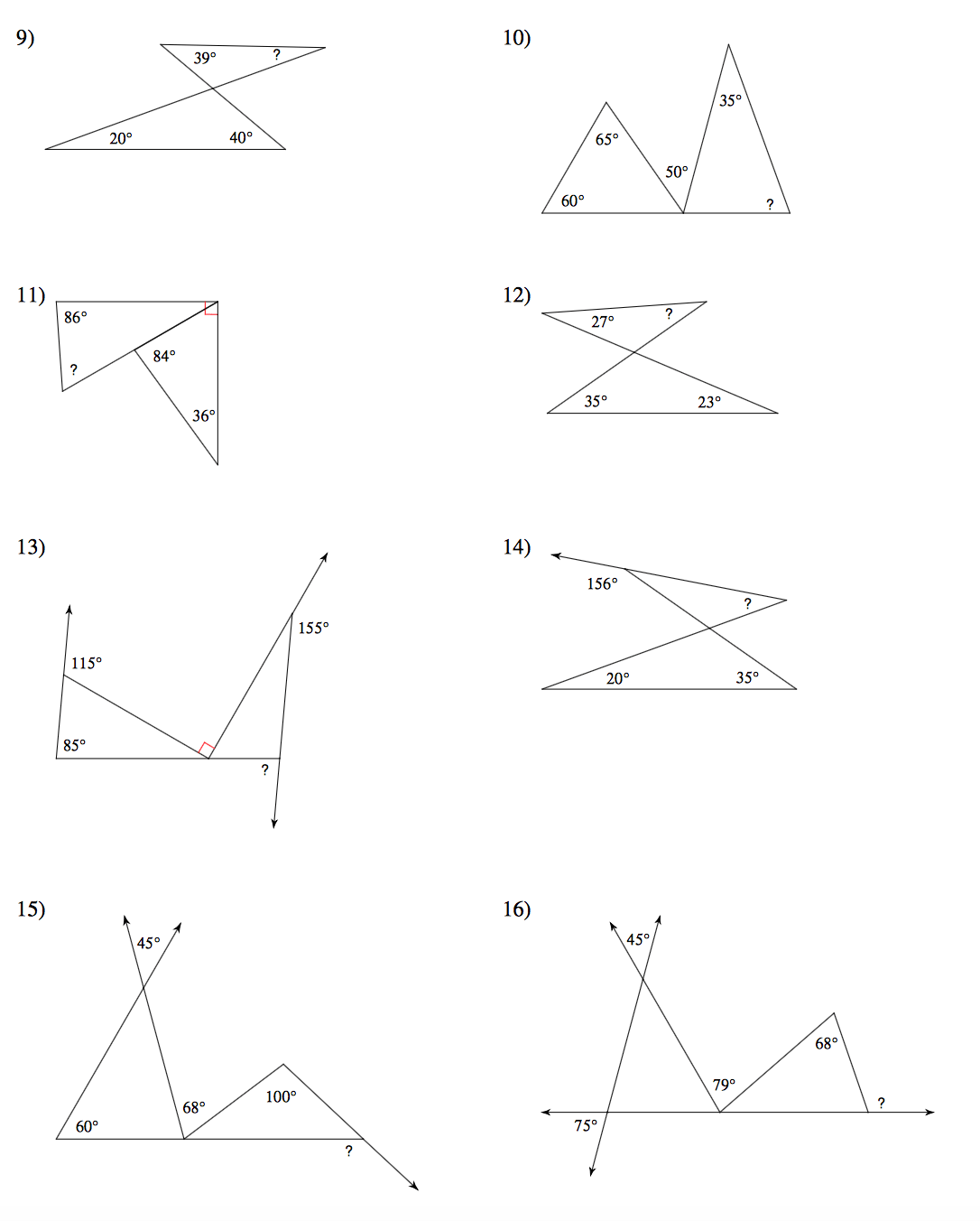 Congruent Triangles Worksheets Grade 7