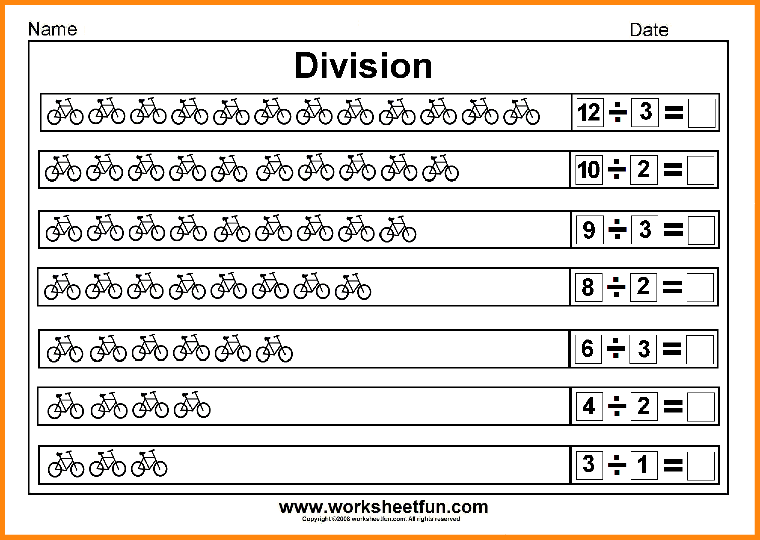 Beginner Division Worksheets