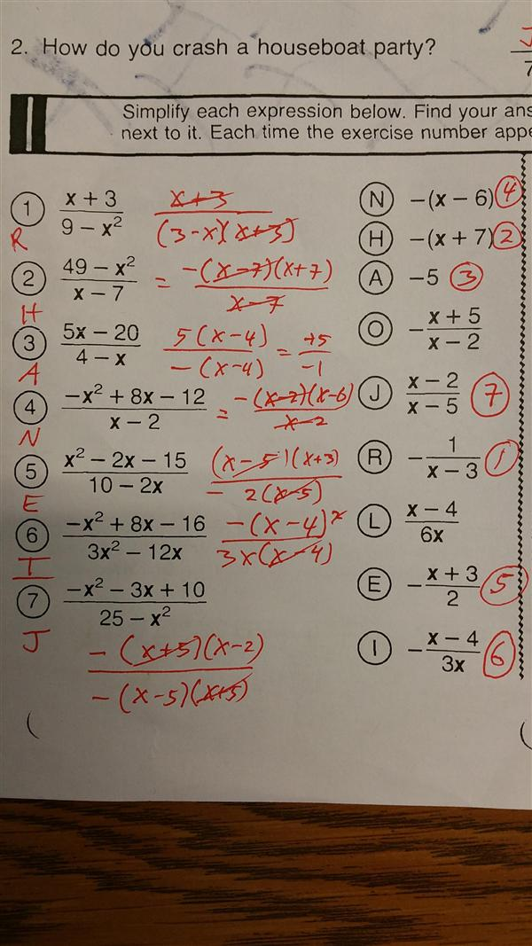 Cryptic Quiz Math Worksheets Answers Page 148