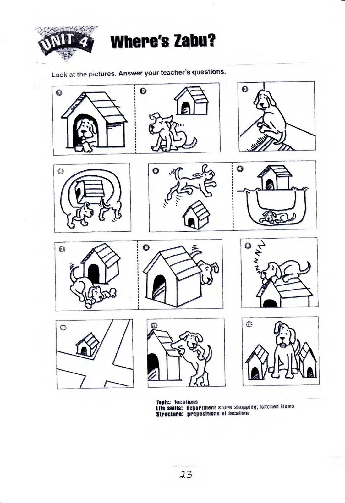 Kindergarten Prepositions Worksheets