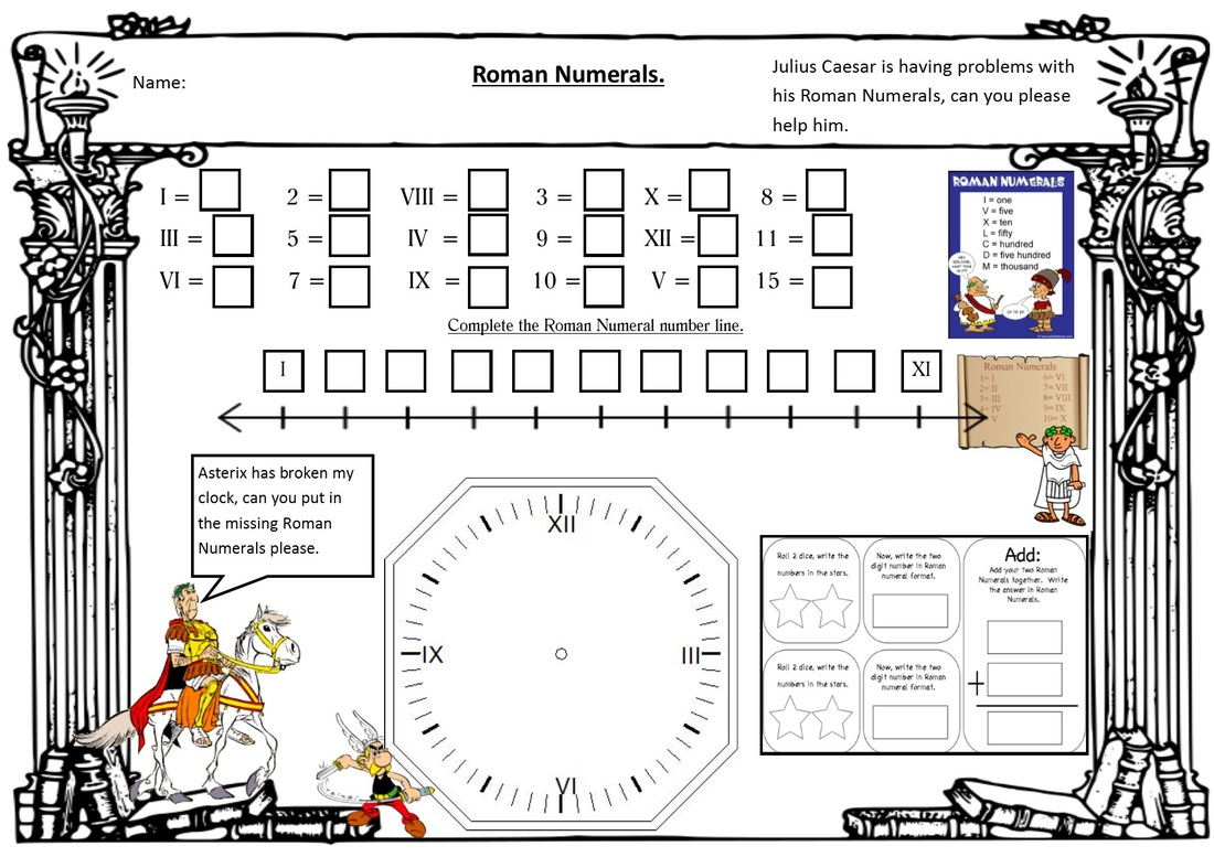 Roman Numerals Worksheets Year 5