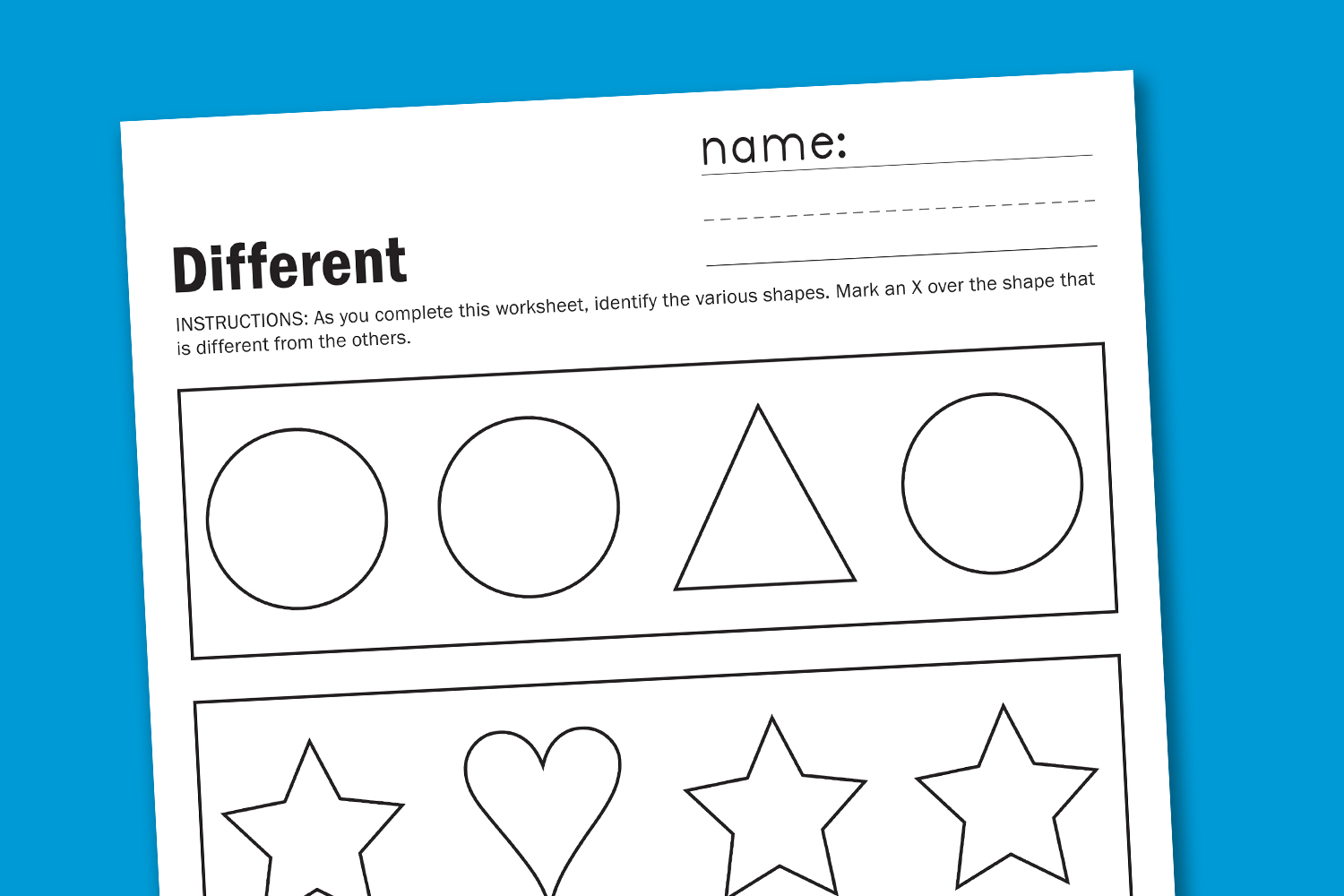 Toddler Shapes Worksheets