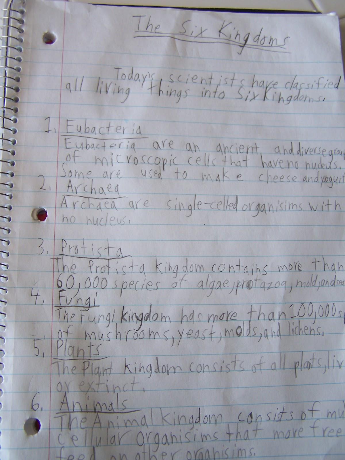 Six Kingdoms Coloring Worksheets Answer Key