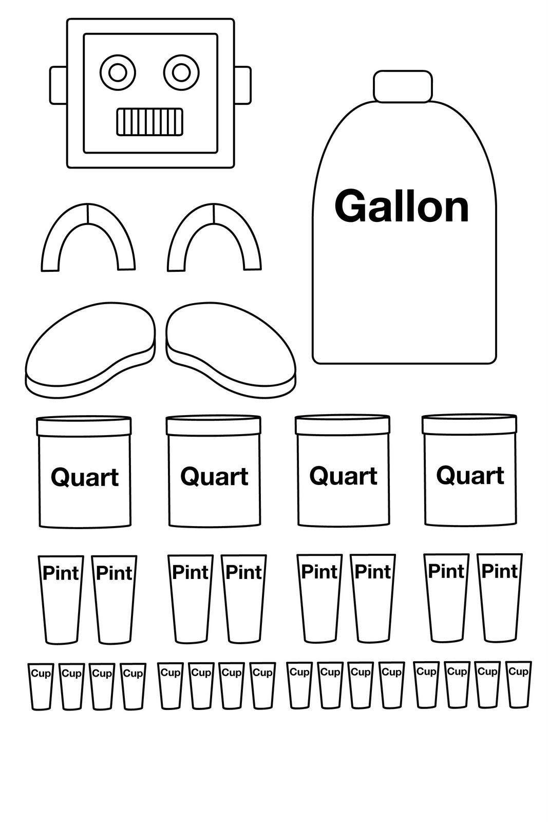Gallon Guy Worksheets