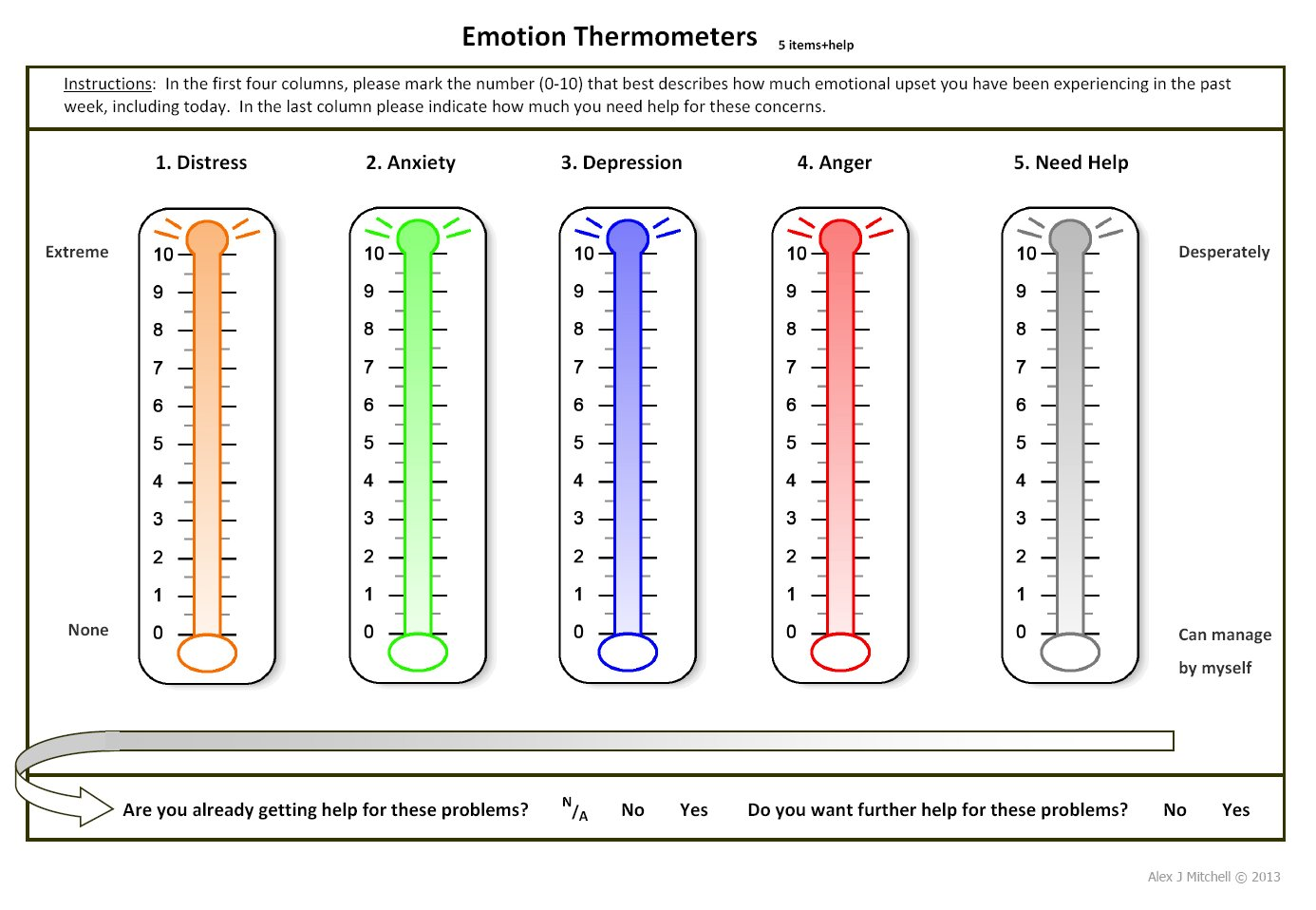 Anger Thermometer Worksheet Printable Large Print
