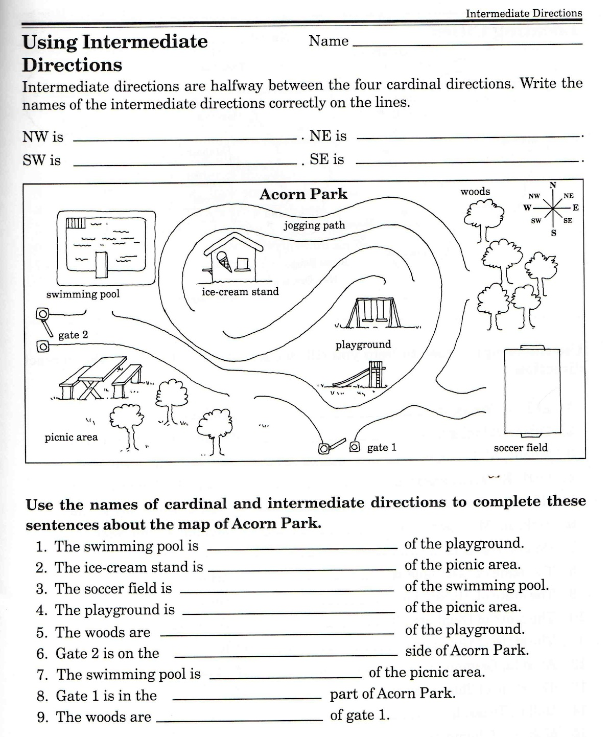 Reading Map Worksheets