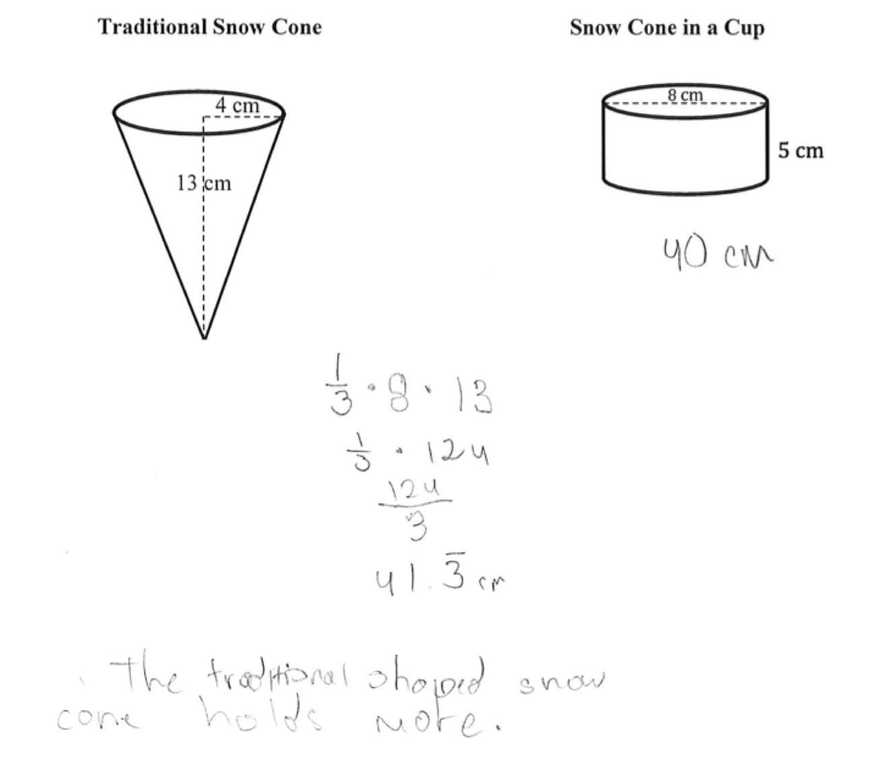 Volume Of Cones Worksheets