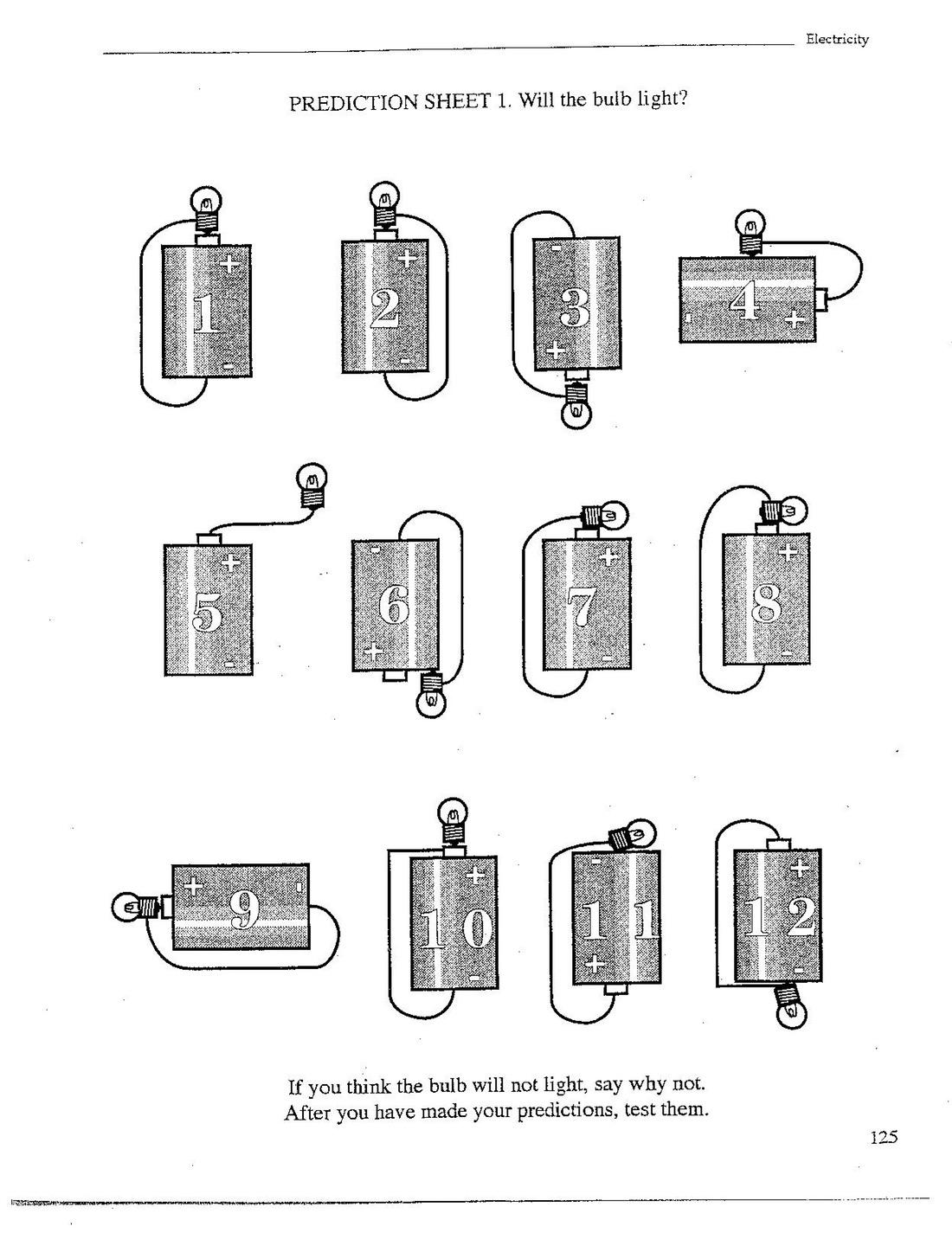 Simple Electrical Circuit Worksheets