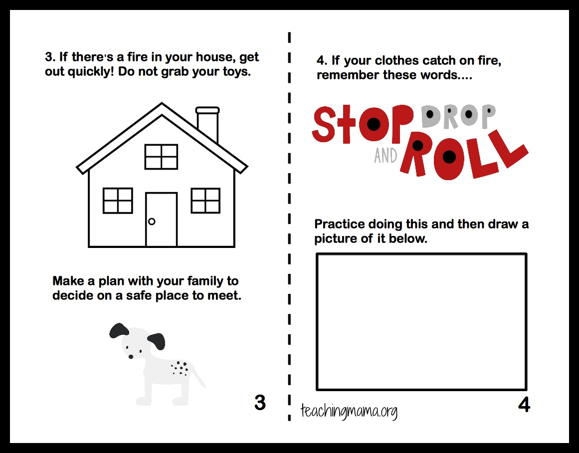 Fire Safety Worksheets For Kids