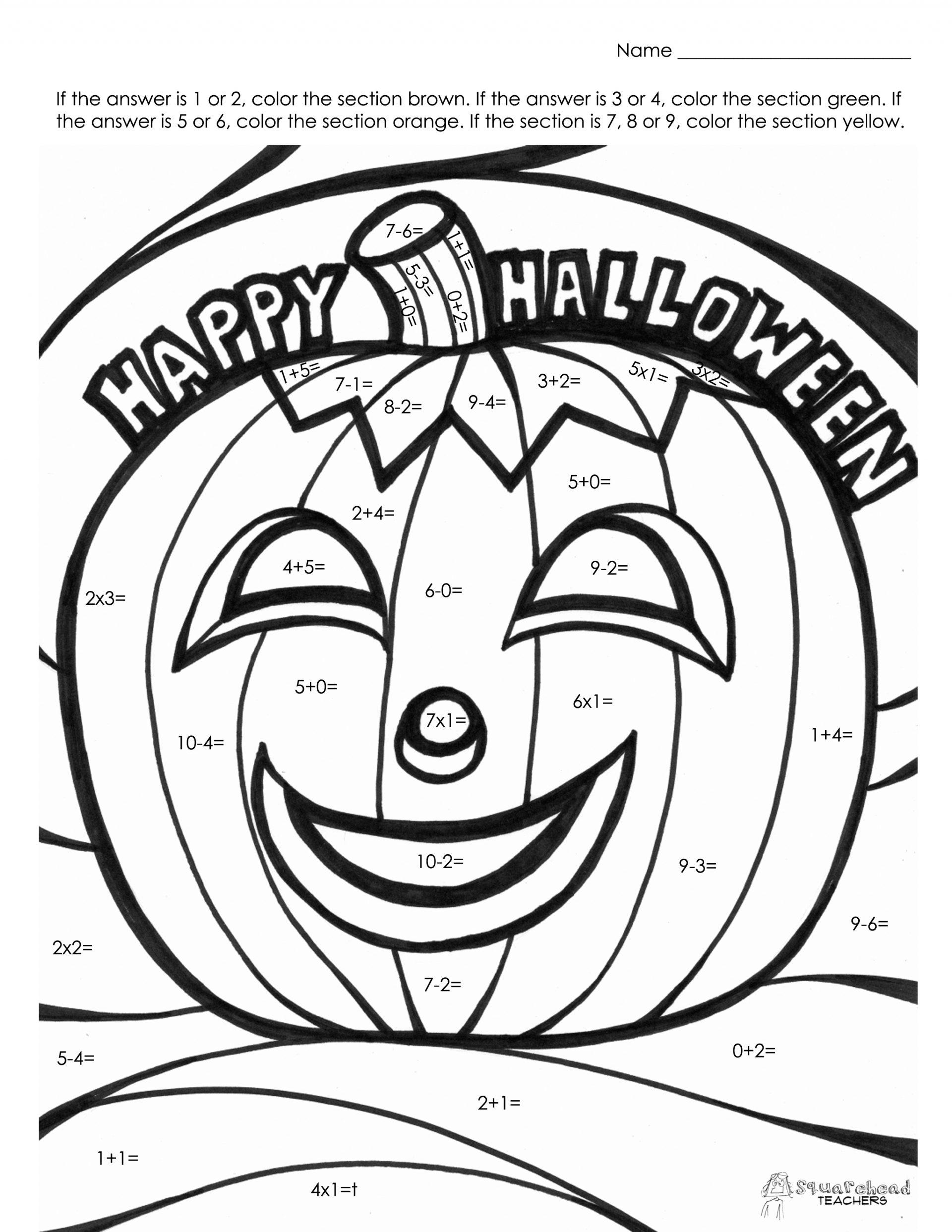 Halloween Worksheets For High School