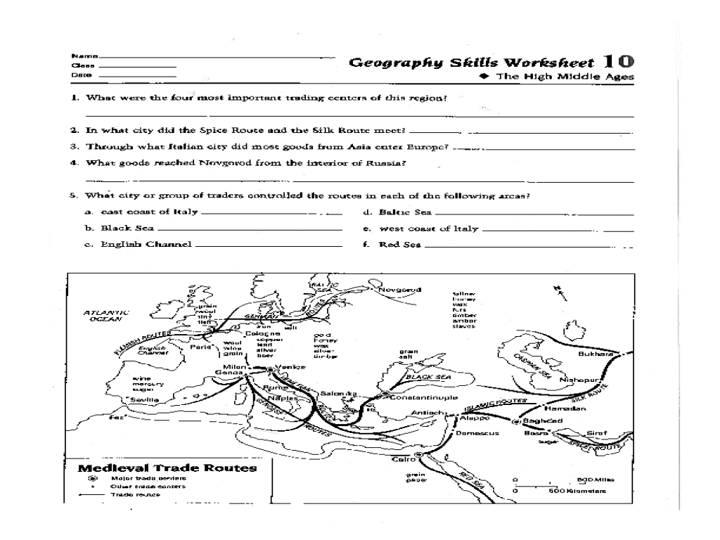 3rd Grade Map Skills Worksheets