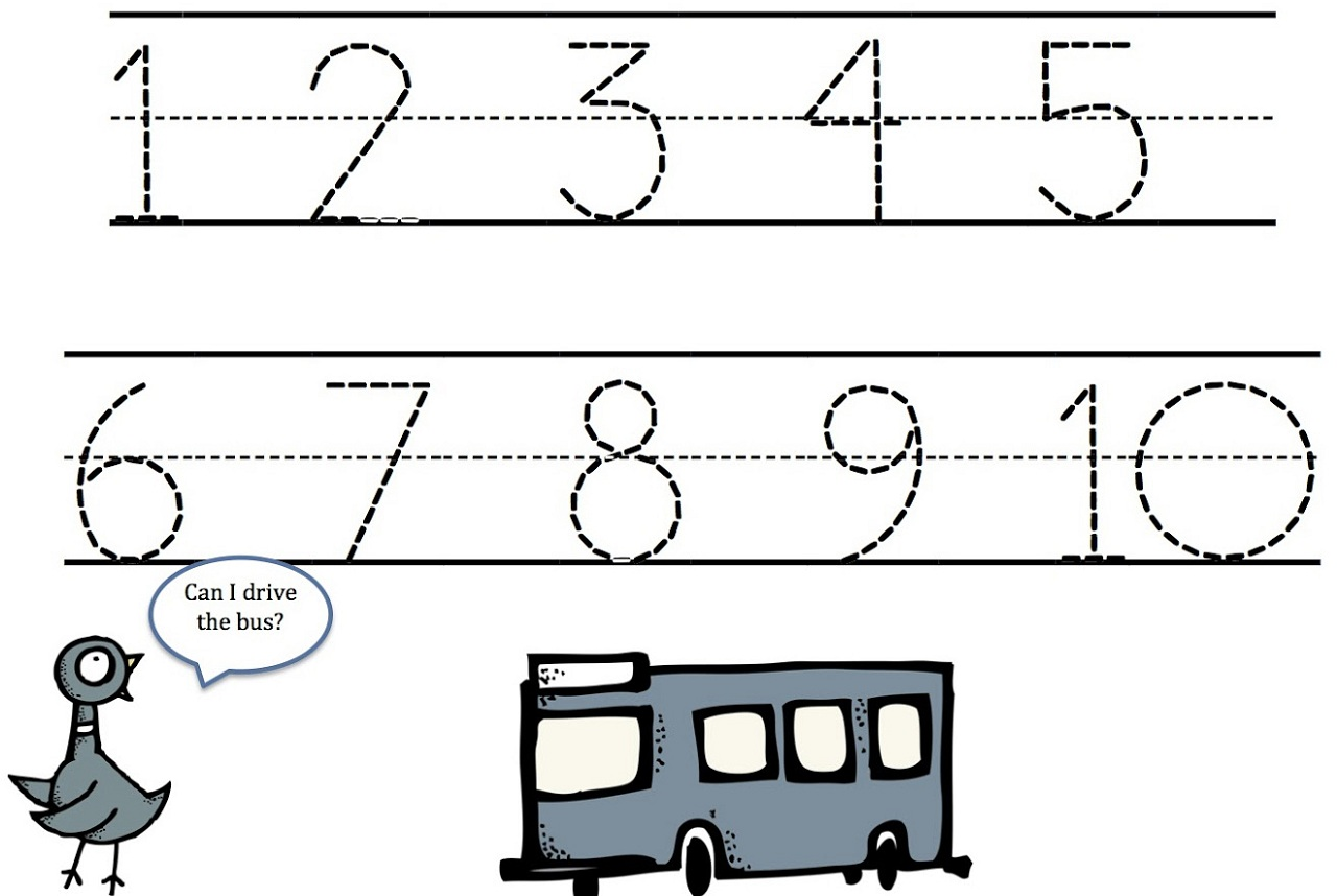 Writing Numbers 0 10 Worksheets