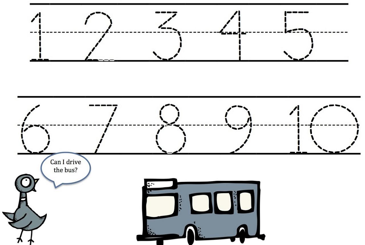 Mad Minute Worksheet Tracing Numbers Kindergarten