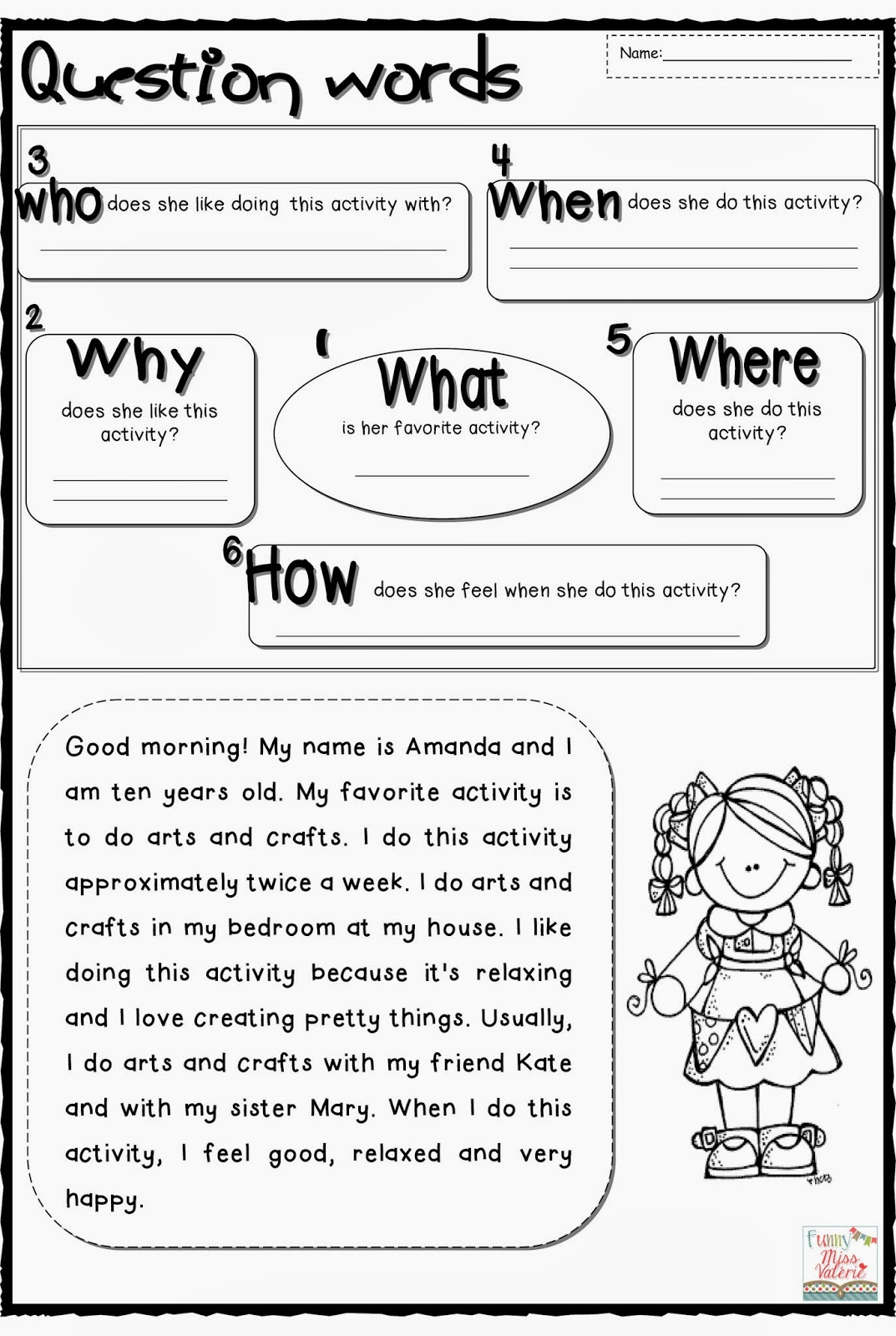 Question Words Worksheet Game About Worksheets Samples