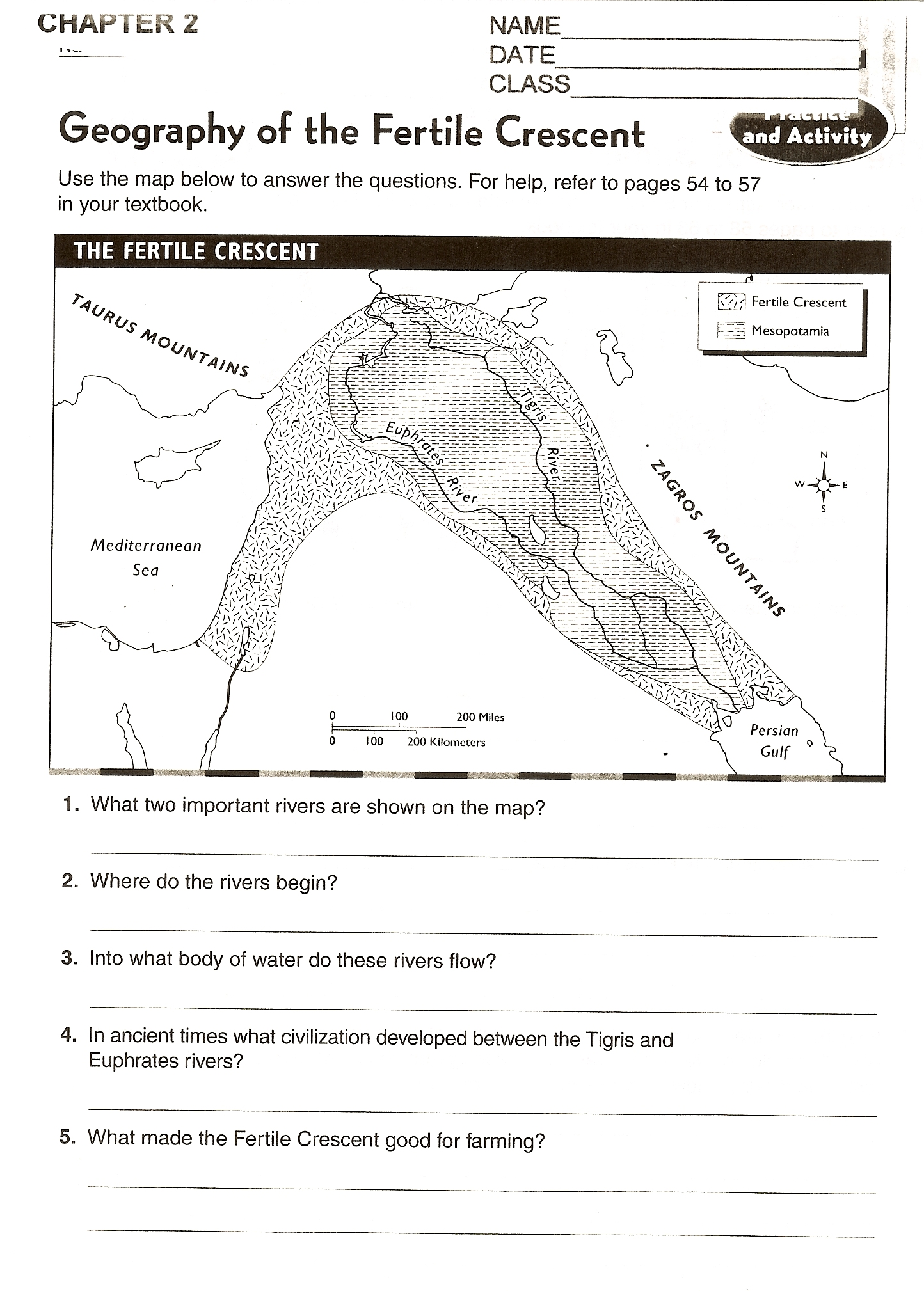 Mesopotamia Worksheets For 6th Grade
