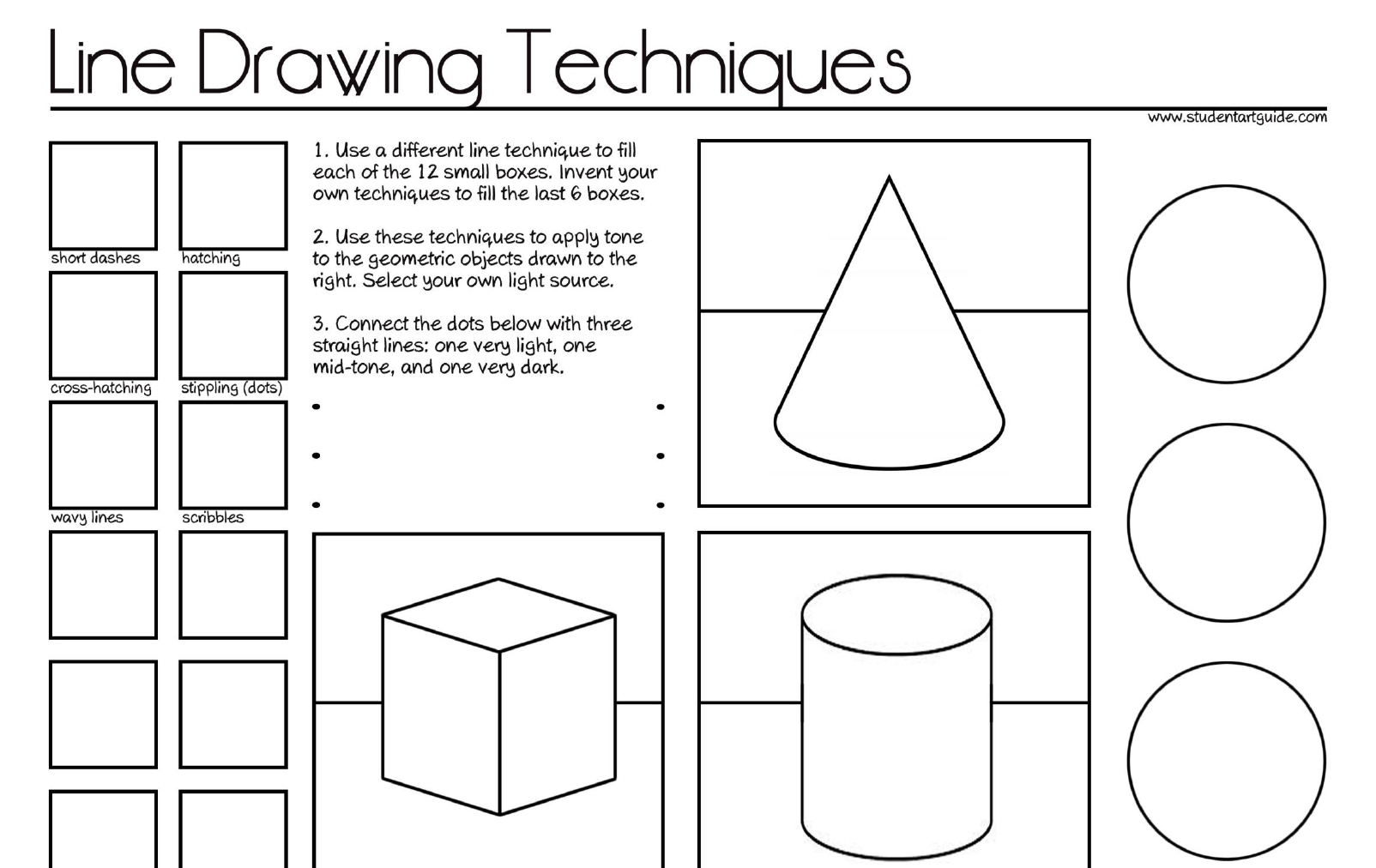 Value Art Worksheets
