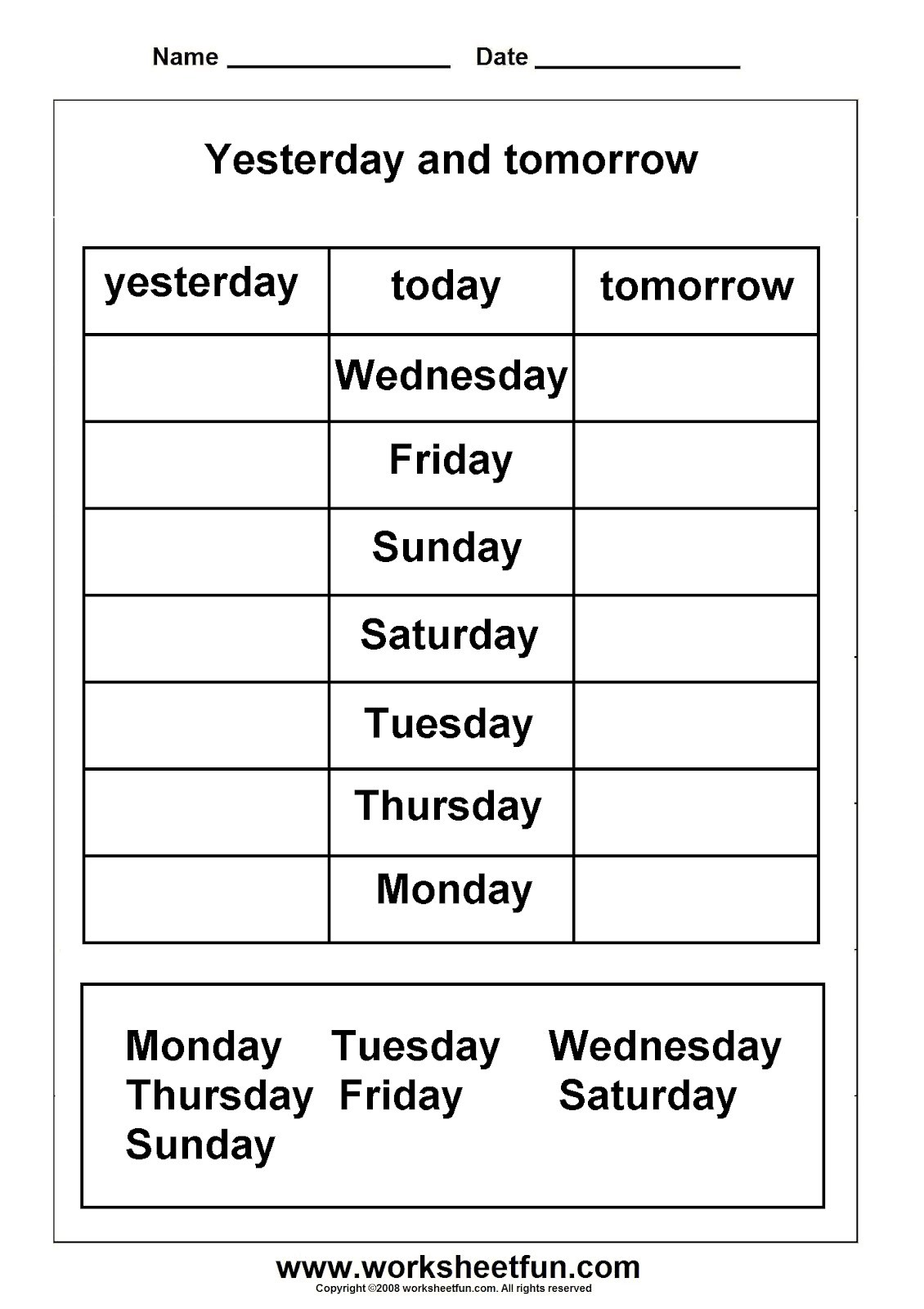 Grade 1 Spelling Worksheets