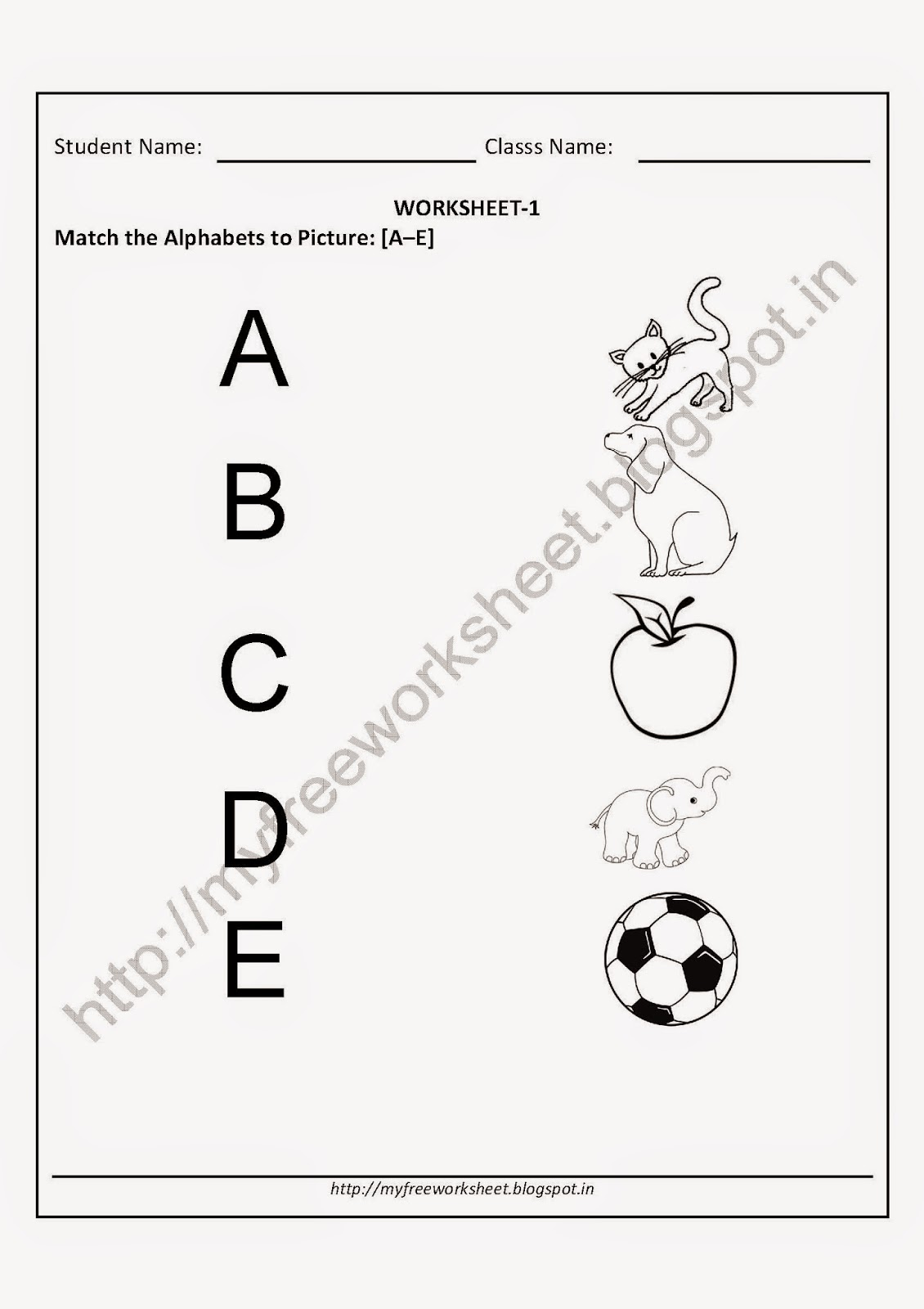 Worksheets For Nursery English