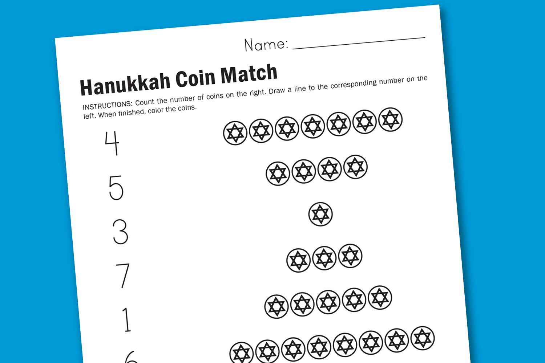 Worksheet Wednesday Hanukkah Coins Worksheets Samples