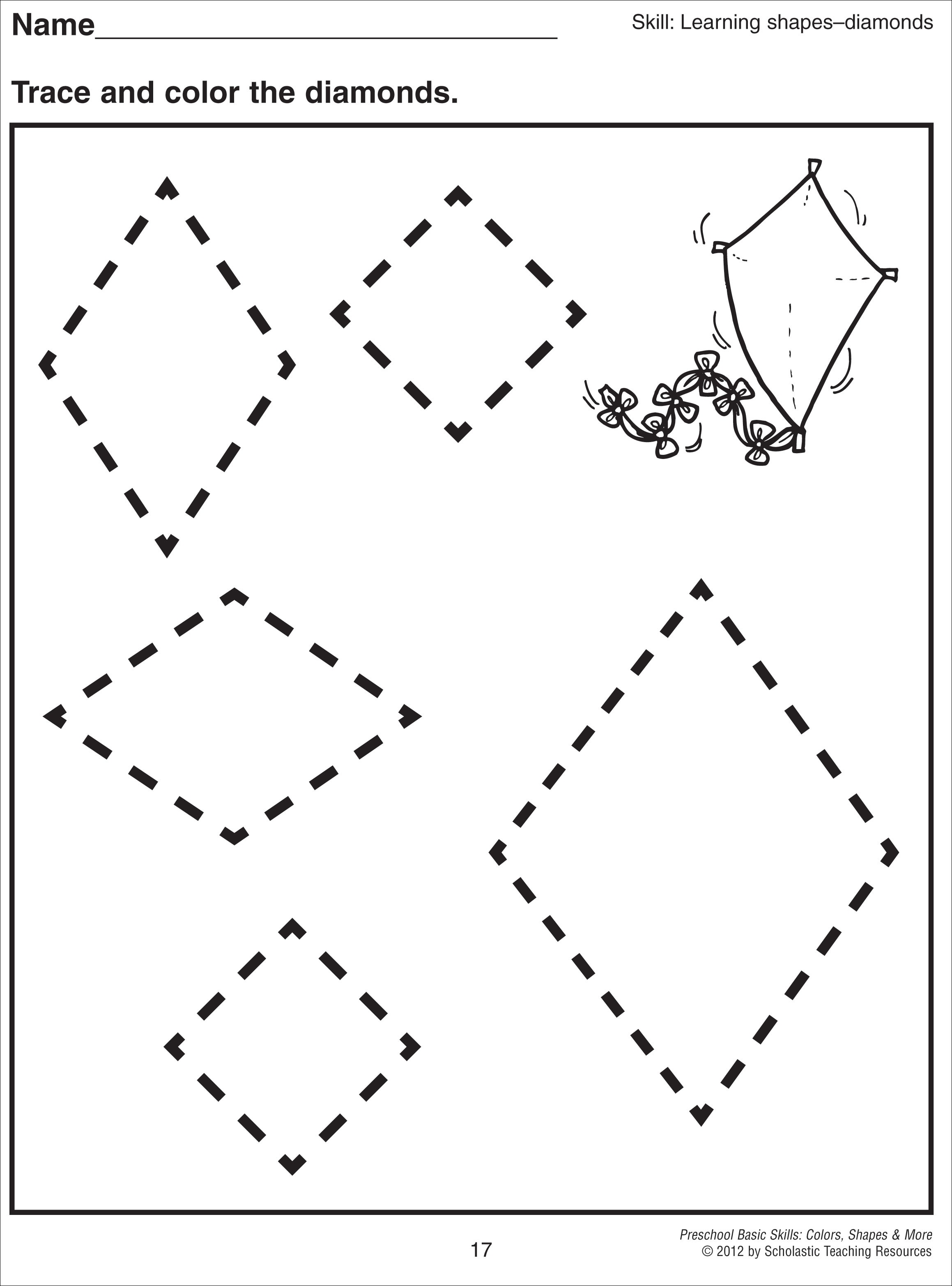 Rhombus Worksheets For Preschool