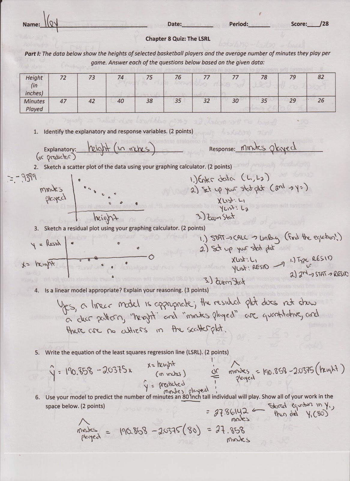 Linear Regression And Correlation Coefficient Worksheet