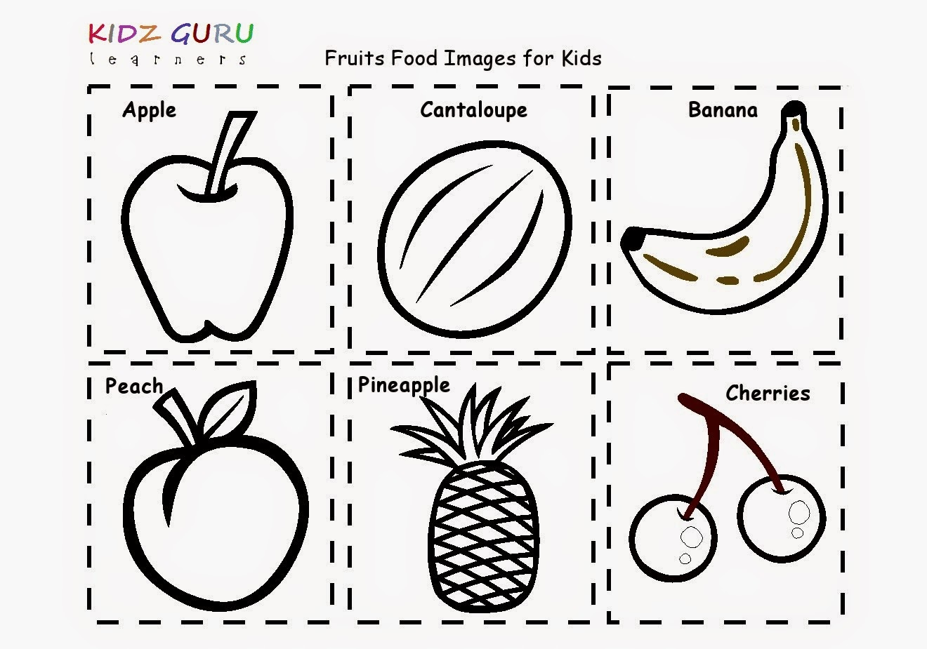 Fruit Worksheets For Preschool