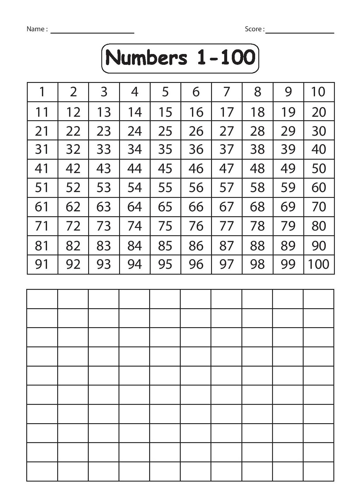 French Numbers 1 100 Worksheets Printable