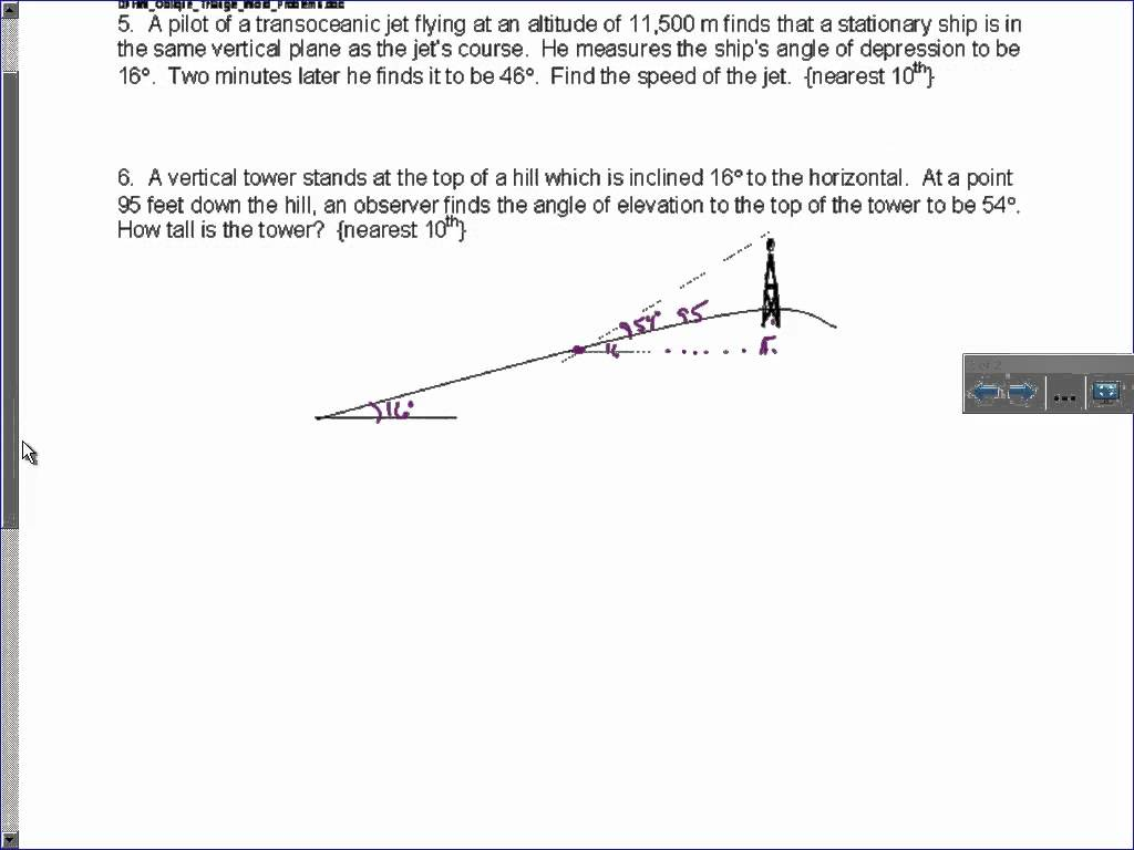 Law Of Sines And Cosines Word Problems Worksheets With Answers