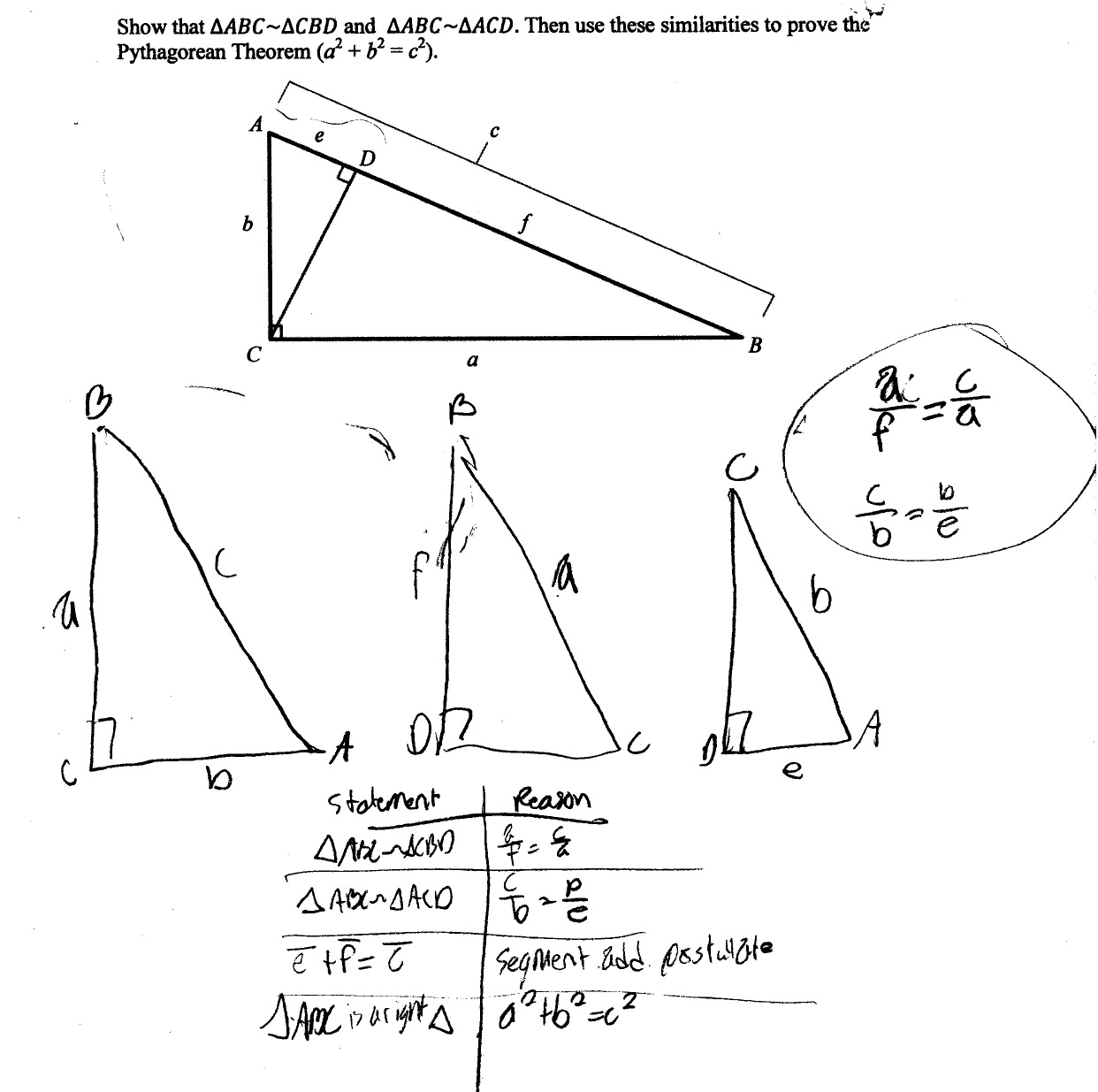Proving Similar Triangles Worksheets
