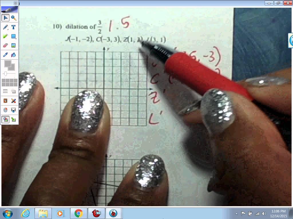 8th Grade Math Dilations Worksheets