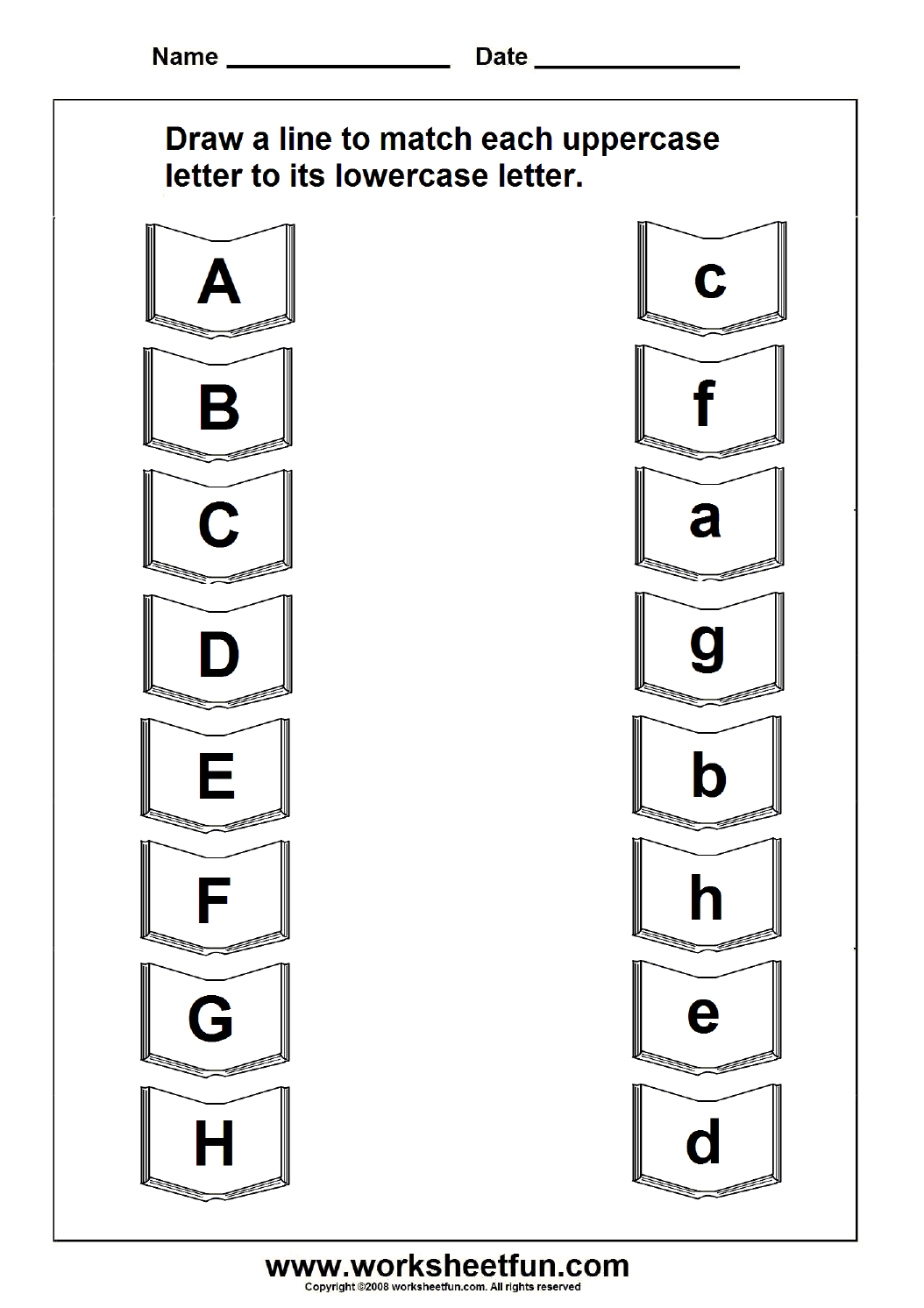Abc Matching Worksheets