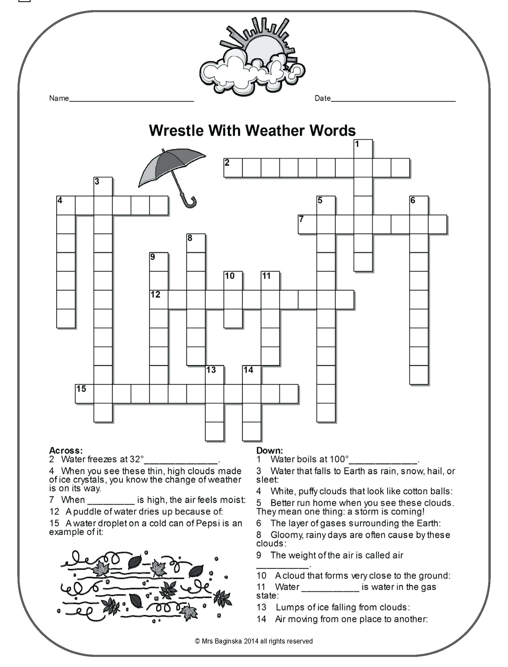 Worksheet Weather Worksheets 4th Grade Earth Sci Final