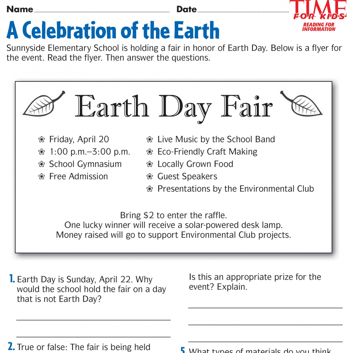 Worksheets About Earth Day Worksheets For All Worksheets Samples