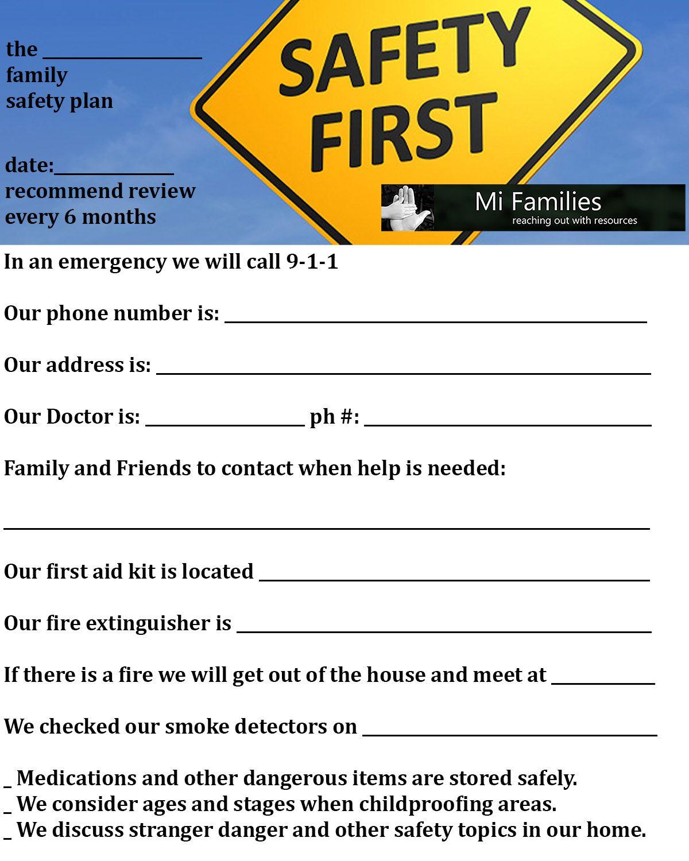 Safety Printable Worksheets