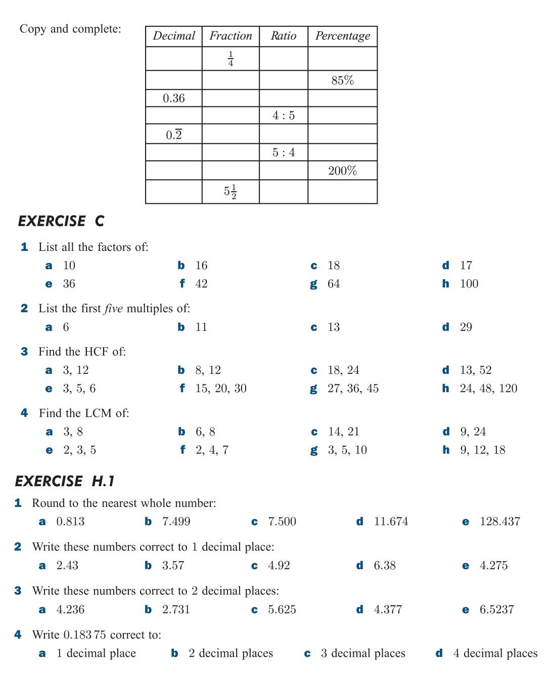 Gcf Lcm Worksheets