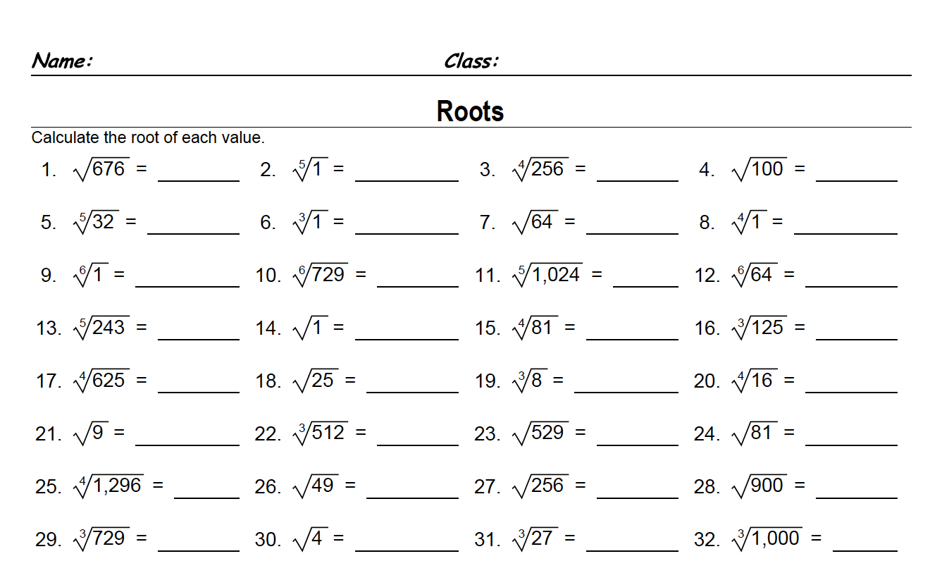 Yr 6 Algebra Worksheets