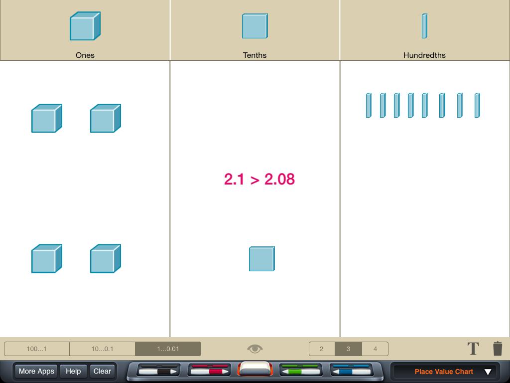 Adding Decimals With Base Ten Blocks Worksheets