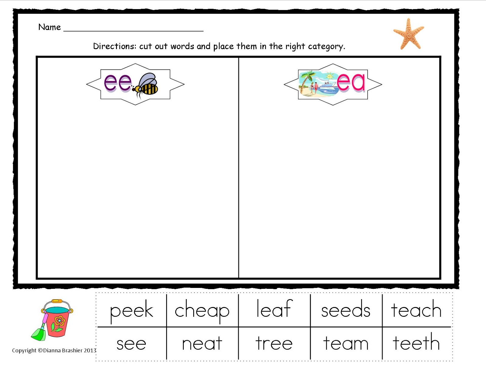 Ee And Ea Worksheets Choice Image Worksheets Samples