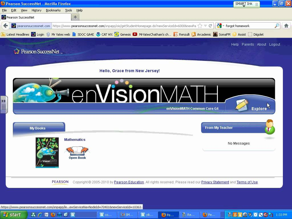 Find Envisionmath Workbook Pages Online Worksheets Samples