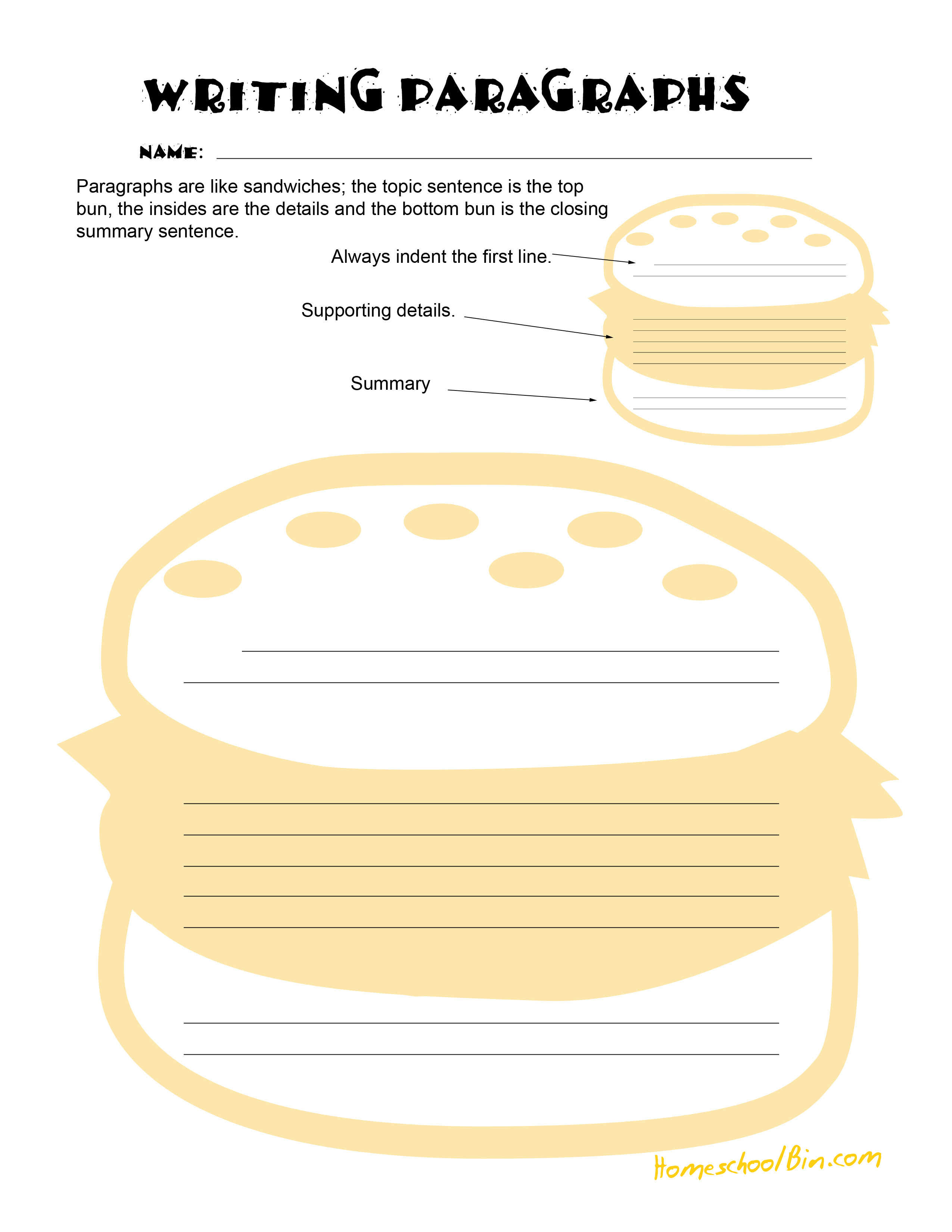 Paragraph Activity Worksheets