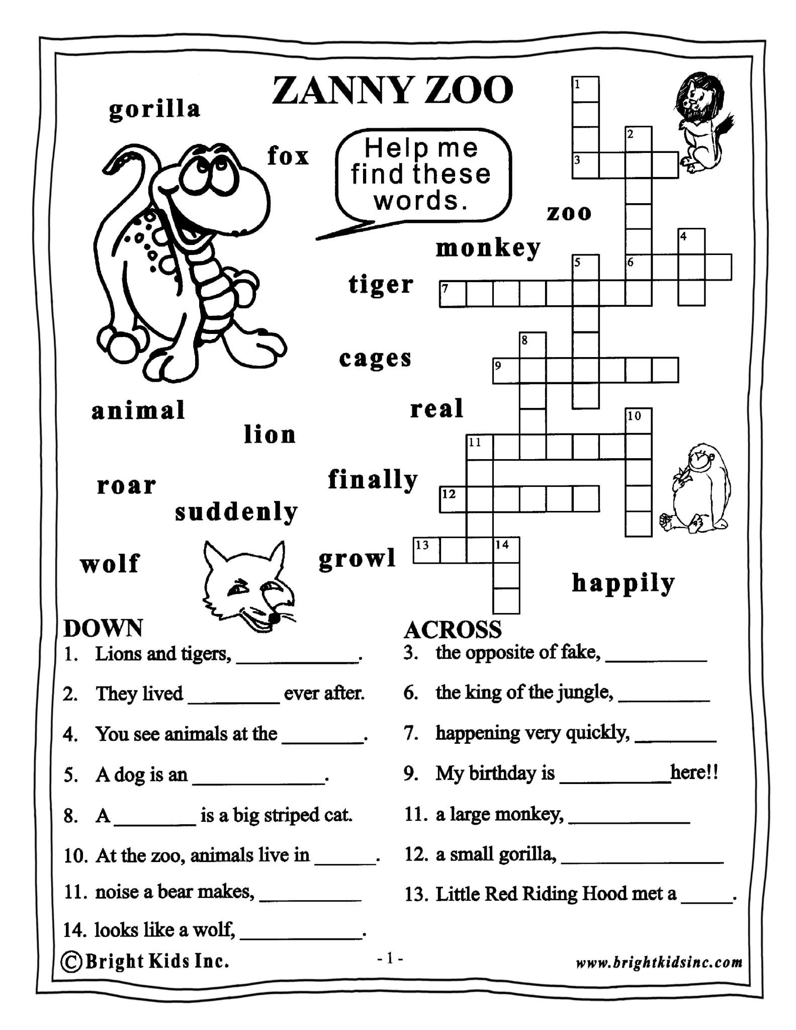 English Worksheets Grade 3