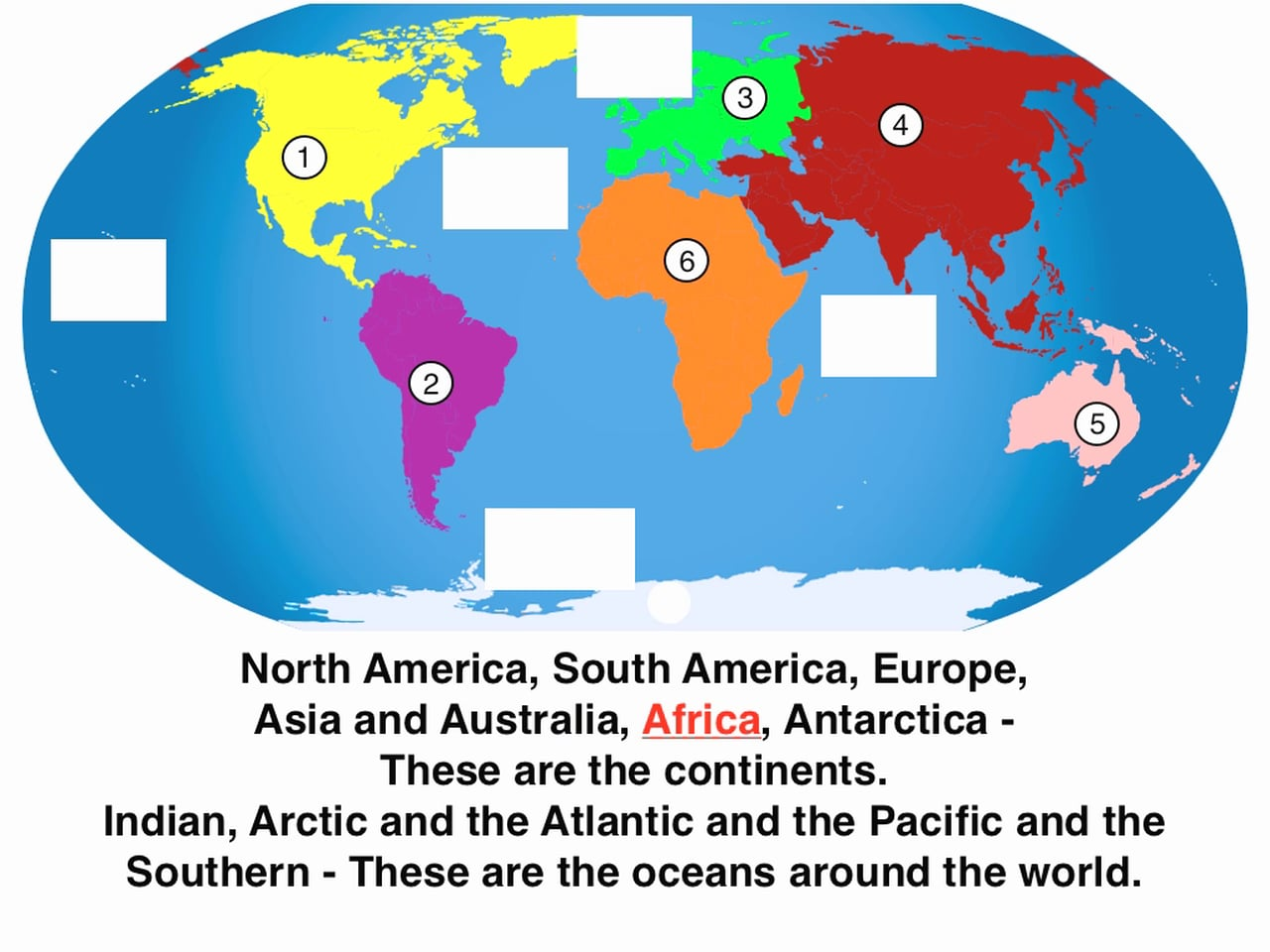 Worksheets On Continents And Oceans